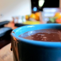 Chocolate pots with cardamom